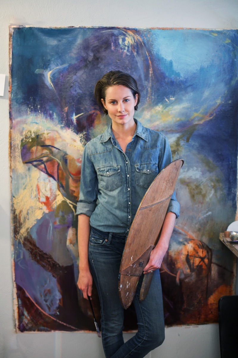 Environmental Portrait of Artist Anna Fox Ryan